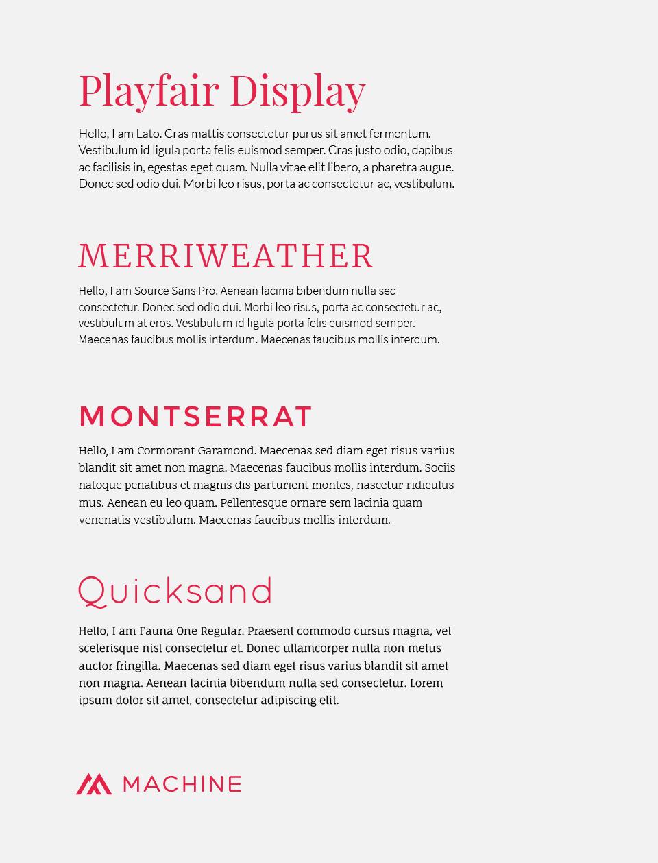 Google Font Combinations Serif Sans-Serif